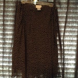 Dresses & Skirts - Brown polka dot skirt